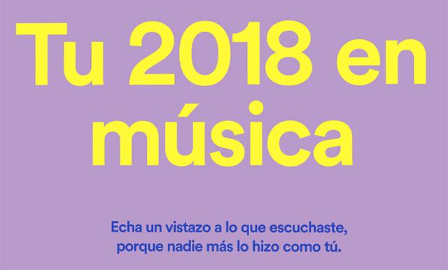 Spotify lanza Wrapped, para escuchar tu selección de 2018