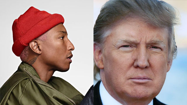 , Pharrell Williams le manda un ultimátum legal a Donald Trump